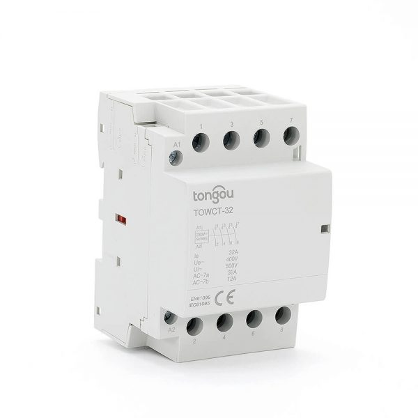 94P 32A 4NO CE CB Din Rail Household Modular Contactor AC 220V/230V/400V TOWCT-32/4