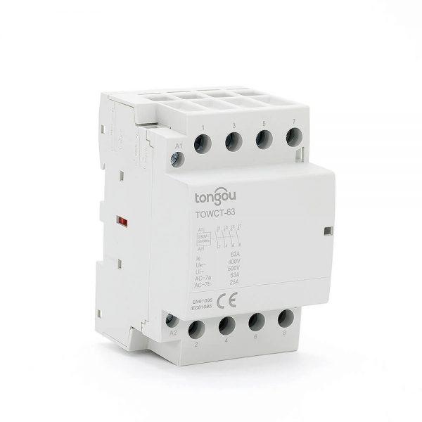 894P 63A 4NO CE CB Din Rail Household Modular Contactor AC 220V/230V/400V TOWCT-63/4