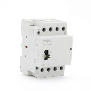 4P 32A 4NO CE CB Din Rail Household Modular Contactor AC 220V/230V/400V With Manual Control Switch TOWCTH-32/4