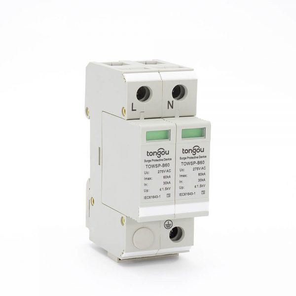 22SPD AC 1P+N 30KA~60KA B ~275V House Surge Protector Protection Protective Low-voltage Arrester Device