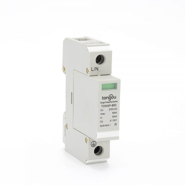 SPD AC 1P 30KA~60KA B ~275V House Surge Protector Protection Protective Low-voltage Arrester Device