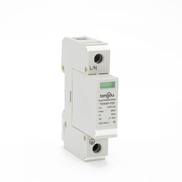 5SPD AC 1P 10KA~20KA D ~275V House Surge Protector Protection Protective Low-voltage Arrester Device