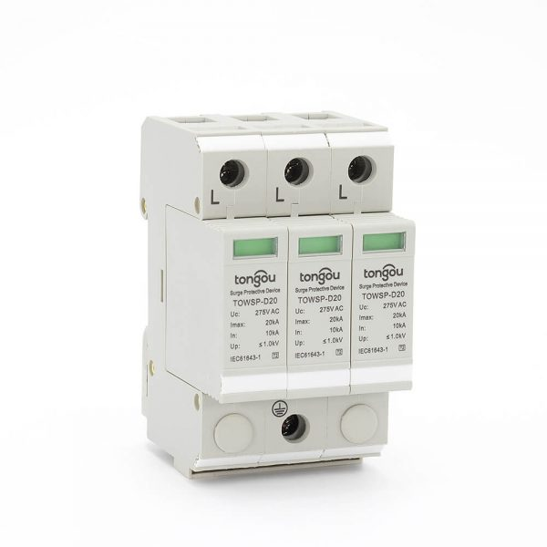 13SPD AC 3P 10KA~20KA D ~275V House Surge Protector Protection Protective Low-voltage Arrester Device