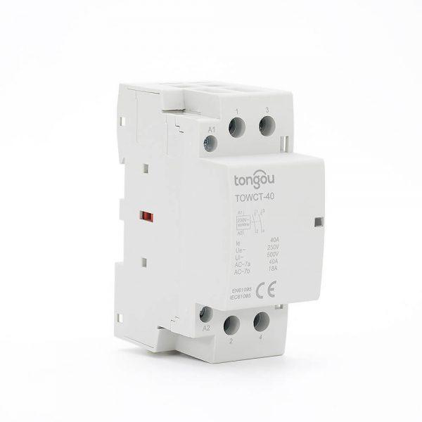 412P 40A 2NO CE CB Din Rail Household Modular Contactor AC 220V/230V TOWCT-40/2