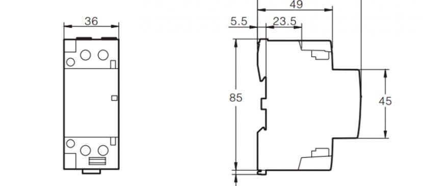 472P 32A 2NO CE CB Din Rail Household Modular Contactor AC 220V/230V TOWCT-32/2