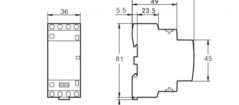 124P 16A 4NO CE CB Din Rail Household Modular Contactor AC 220V/230V/400V TOWCT-16/4