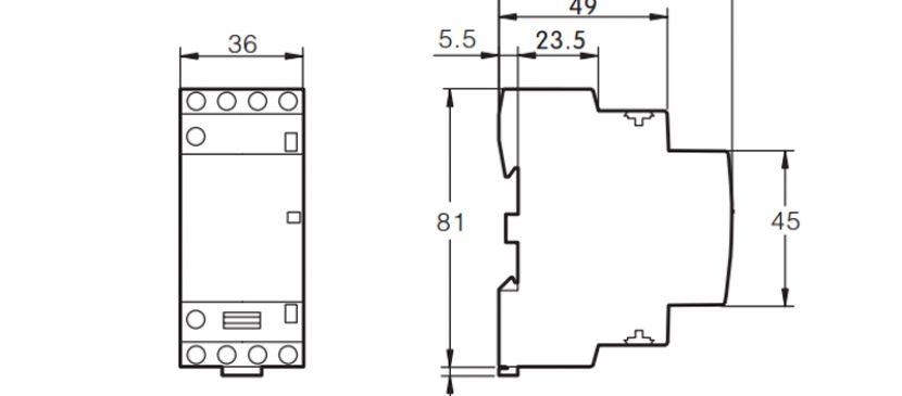 4P 25A 4NO CE CB Din Rail Household Modular Contactor AC 220V/230V/400V TOWCT-25/4