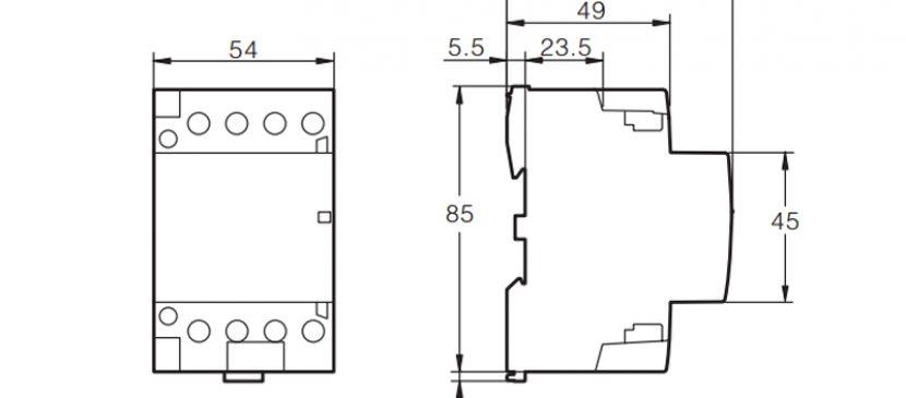 104P 32A 4NO CE CB Din Rail Household Modular Contactor AC 220V/230V/400V TOWCT-32/4