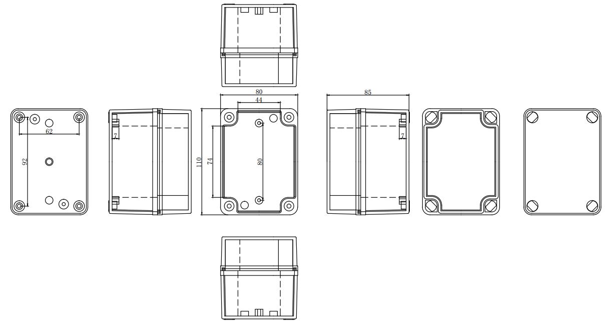 ip67 110 80 85 mm waterproof electrical plastic junction