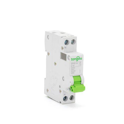 TOMP65-32 3KA 110V 220V Curve C DPN 1P+N 16A Mini Circuit Breaker MCB5