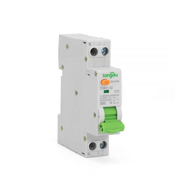 RCBO 1P+N Residual Current Circuit Breaker TOBN1-32 1