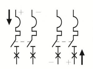 connect 2P 550V DC MCB correctly
