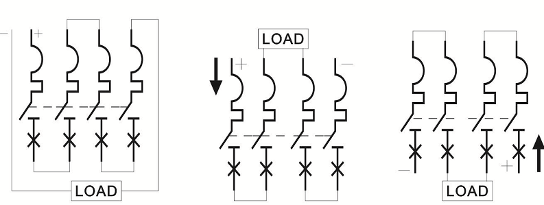 connect 4P 1000V DC MCB correctly
