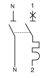 MCB 1P N 微型断路器接线图
